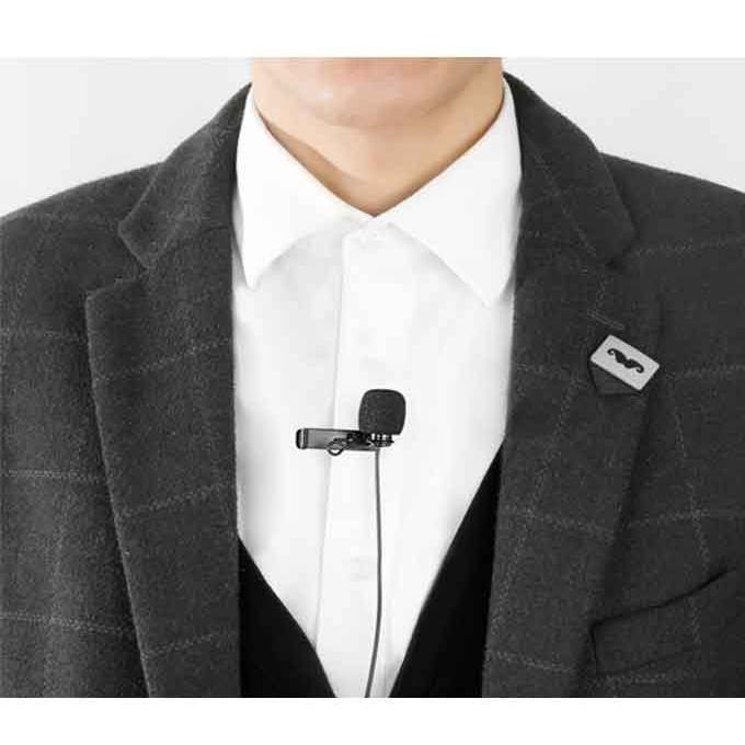 Boya BY-DM1 Digital Lavalier Microphone For iPhone - Black
