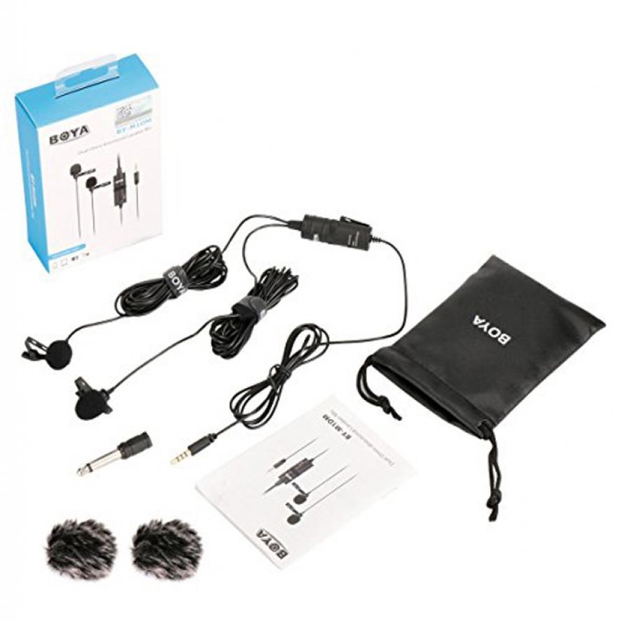 Boya BY-M1DM Dual Lavalier Omni-Directional Microphone