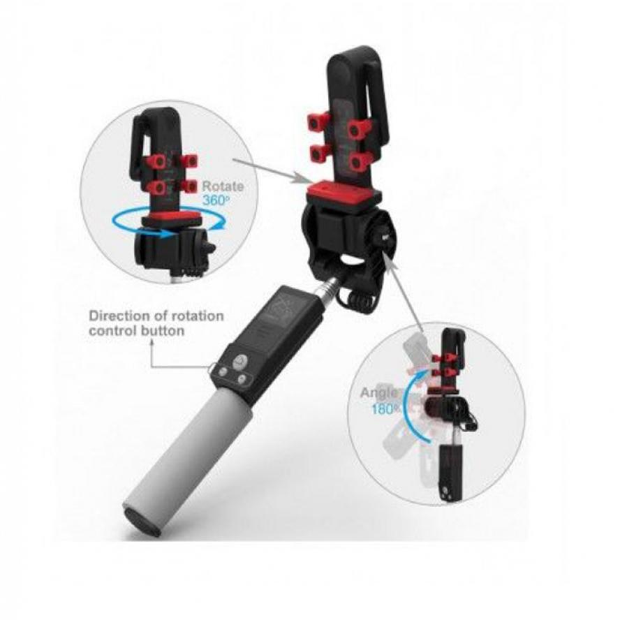 IPhoto 360 Degree Rotation Selfie Stick - Black