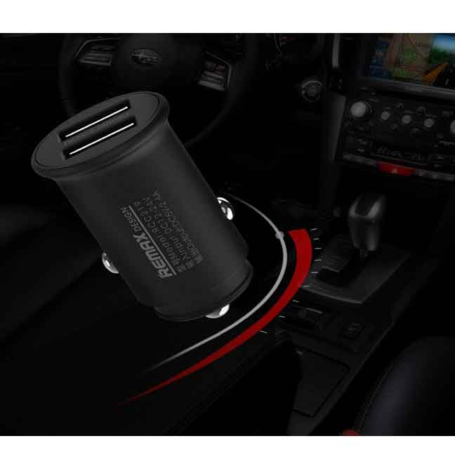 Remax RCC-219 Roki Series Car Charger 2.4A - Black