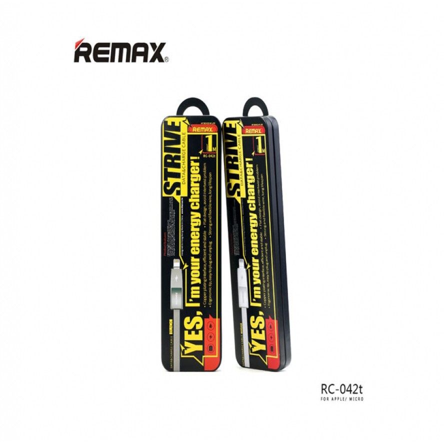 Remax 2in1 Strive Data&Charging Cable For iPhone & Android