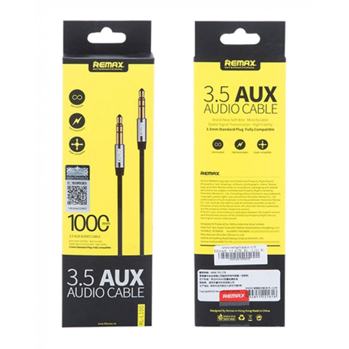Remax RL-L200 - 3.5 AUX Audio Cable 2meter - Black