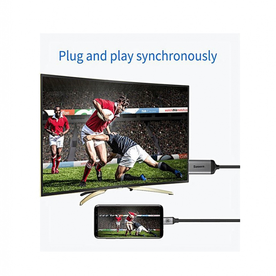 Baseus C-Video Type-C To HDMI Male Adapter - GM40D