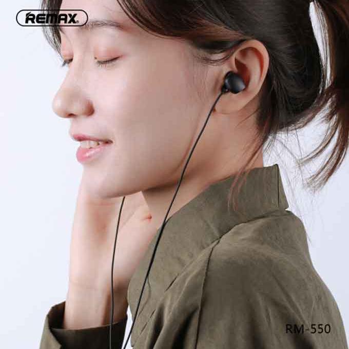 Remax Earphone RM-550 In-Ear Wired Handsfree - Black
