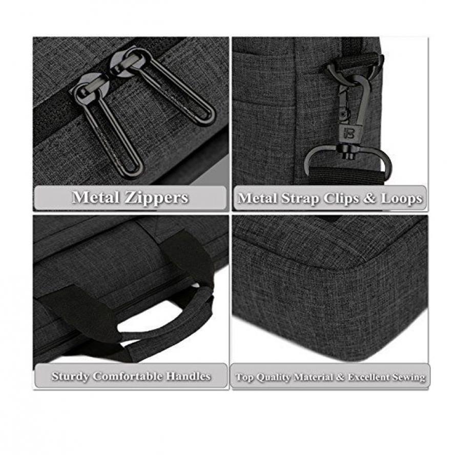 Brinch Laptop Shoulder Bag 228 - Black