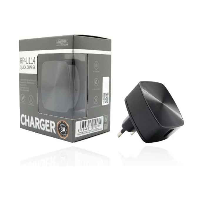 Remax Fast Charger RP-U114 Single Port Quick Charger 3A