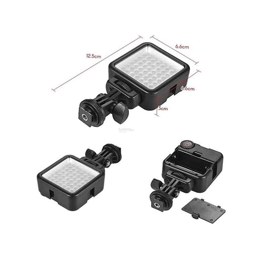 LED Video Light W49S Mini 6000K With Rotatable Mount Adapter