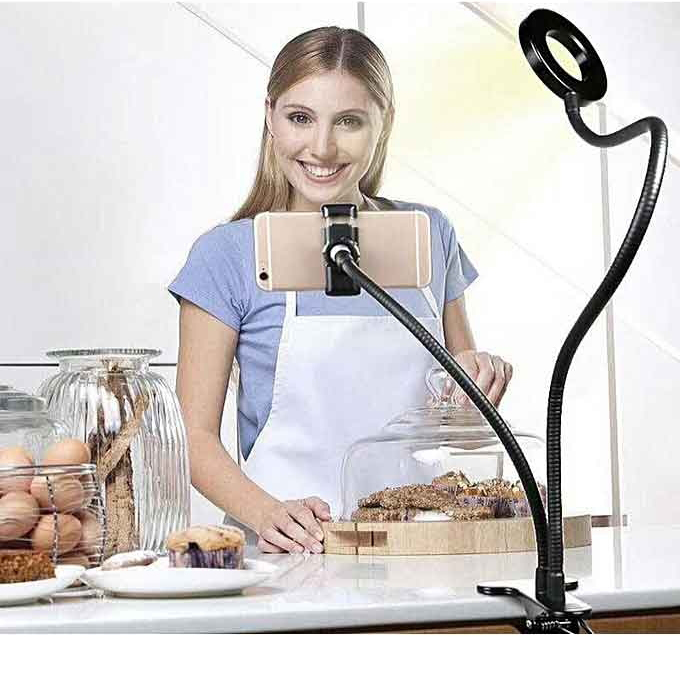 Selfie-Ring-Light-with-Cell-Phone-Holder-Stand