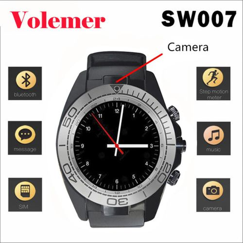 SW007 Bluetooth Smart Watch with Camera SIM Card