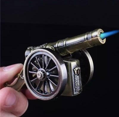 Cigarette Lighter - Cannon Shaped Refillable - Fire Starter