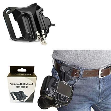 Hard Plastic Holster Waist Belt + Quick Buckle Mount Clip