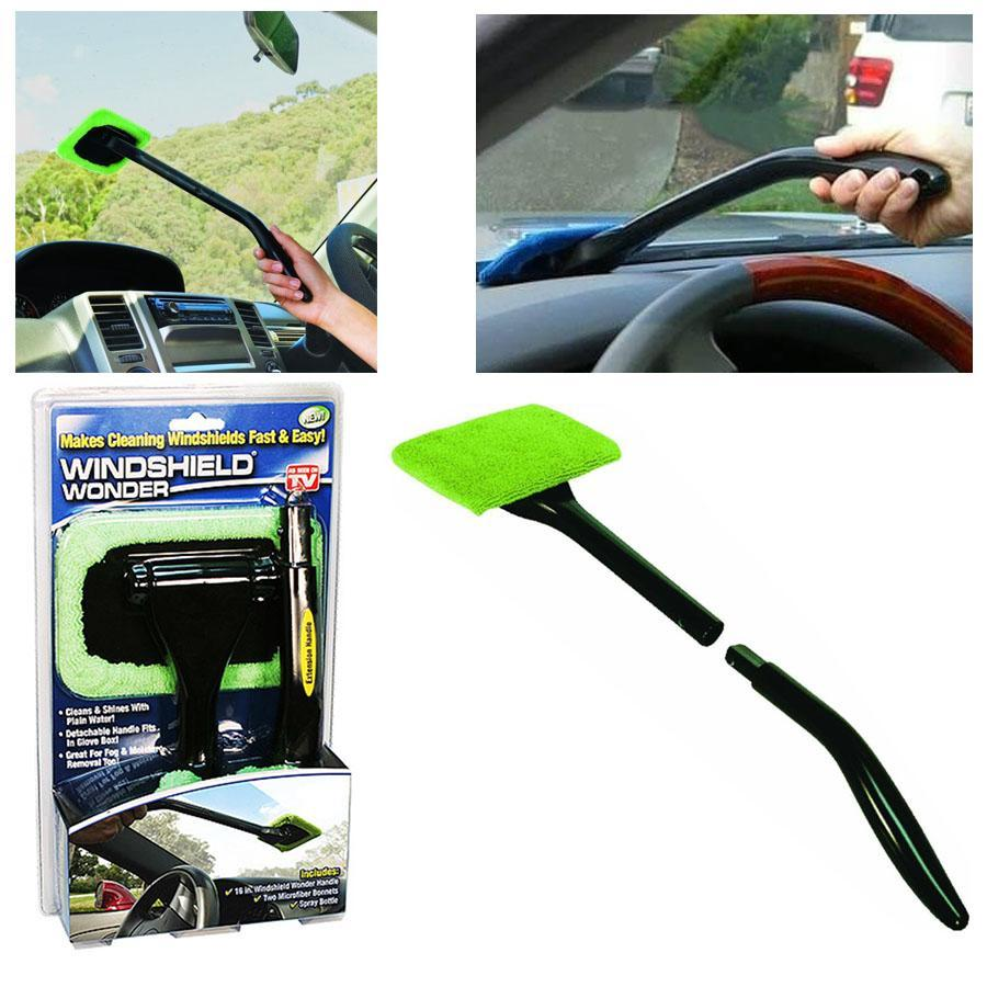 Windshield Wonder Cleaner with Microfiber Cloth Handle