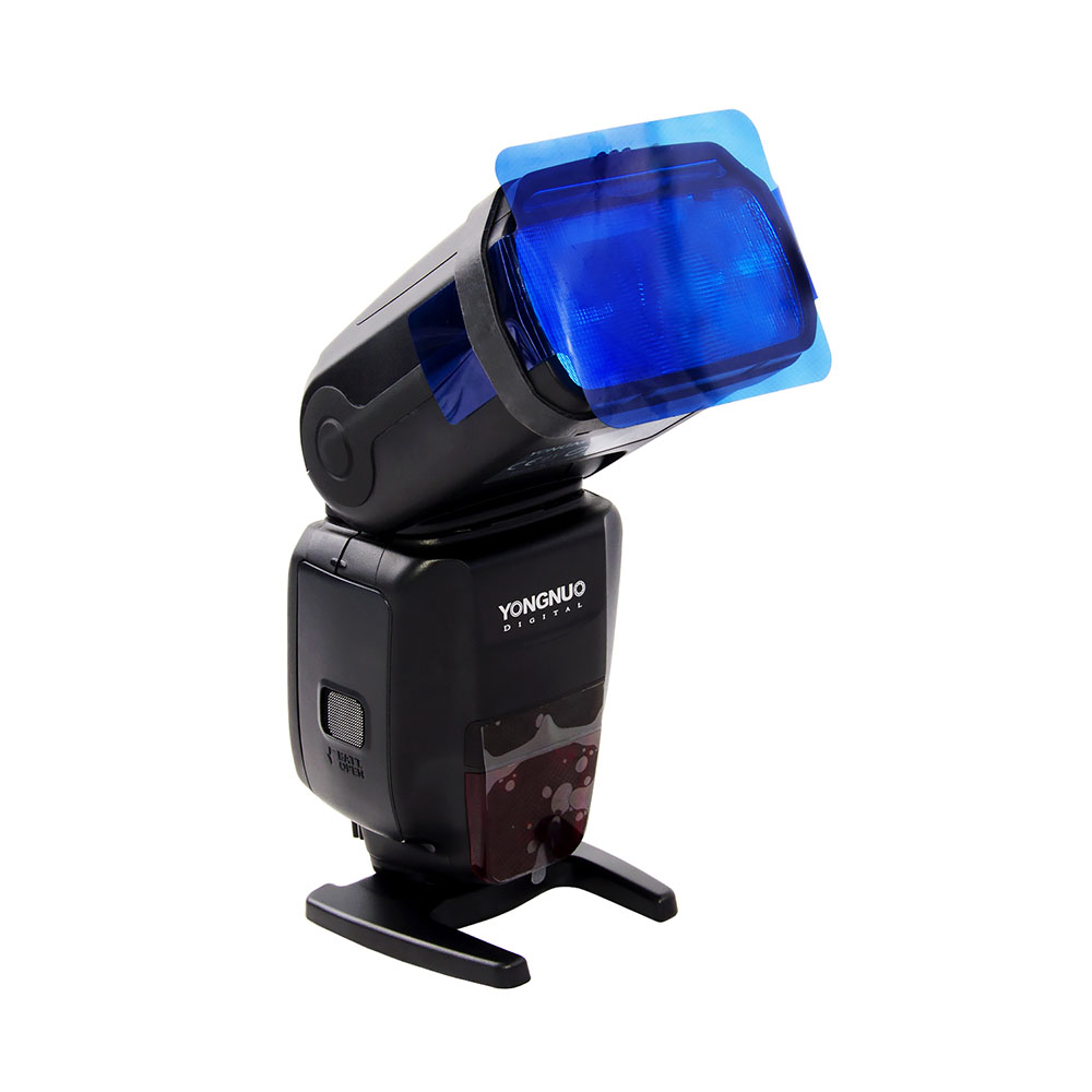 Color Card Gel Filter + Flash Lighting Diffuser For Dslr