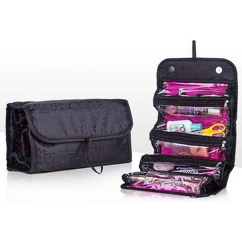 Roll n GO Cosmetic Bag - Black