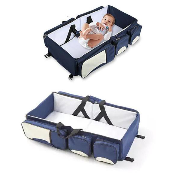 Foldable Baby Travel Bed Bag with Baby Diaper Changer