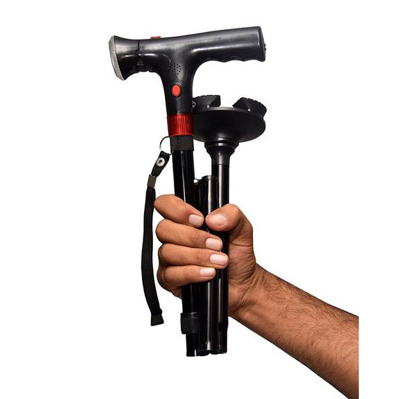 Safety Walking Stick with Alarm - Lighted Walking Cane