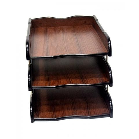 Wooden 3 Layer Document Plate For Office and Home