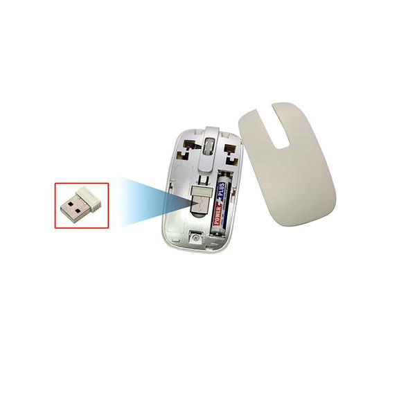 2.4GHz Wireless Keyboard and Mouse Kit - White