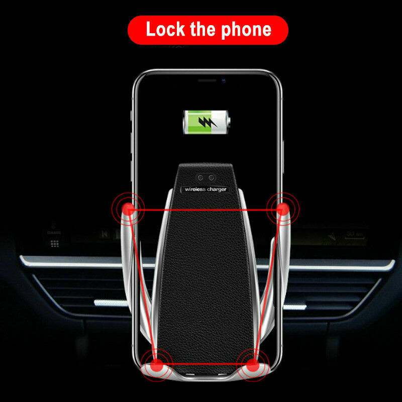 S6 Smart Sensor Car Wireless Charger With Mobile Holder