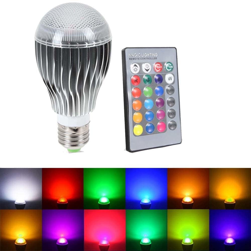 Remote LED RGB Bulb Light