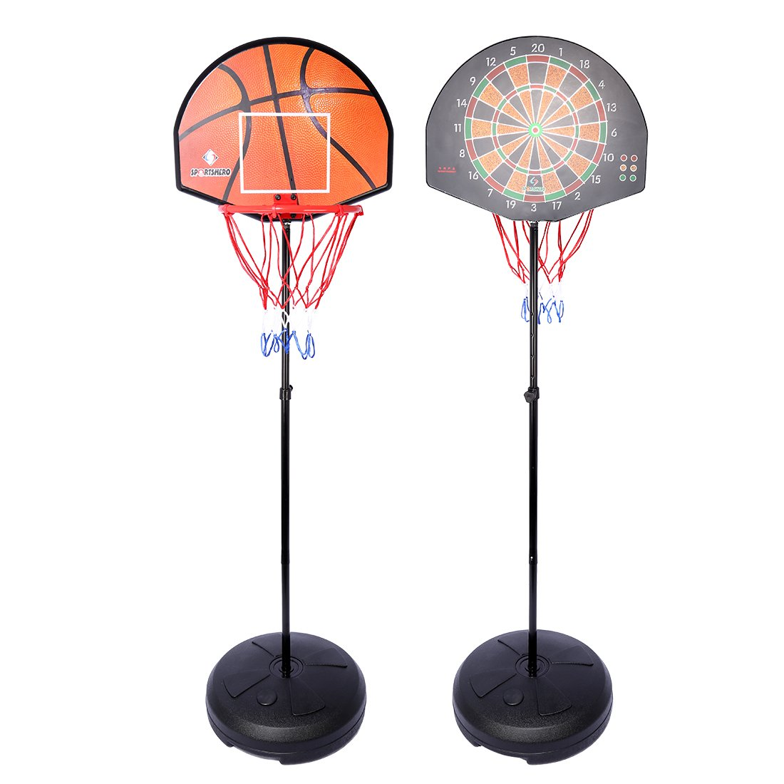 Basketball Stands With Darts Target