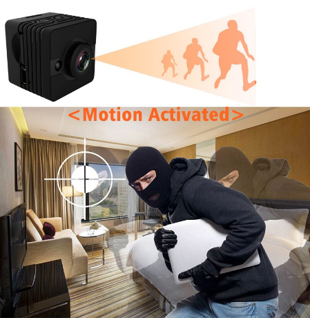 SQ12 Waterproof  Mini Spy Hidden Camera Full HD 1920x1080P