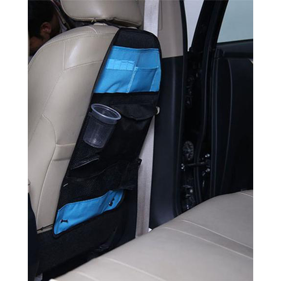 Car Back Seat Multi Pockets Organizer - Blue Black