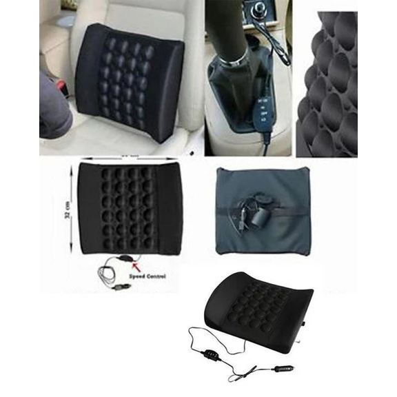 Car Back Seat Massager With Vibrator - BEIGE