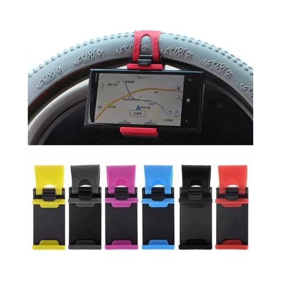 Pack of 2 Car Steering Wheel Mobile Holder Multicolor
