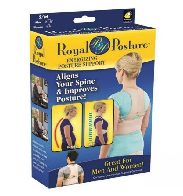 pack of 2 Royal Posture Back  Support Belt for Pain Relief
