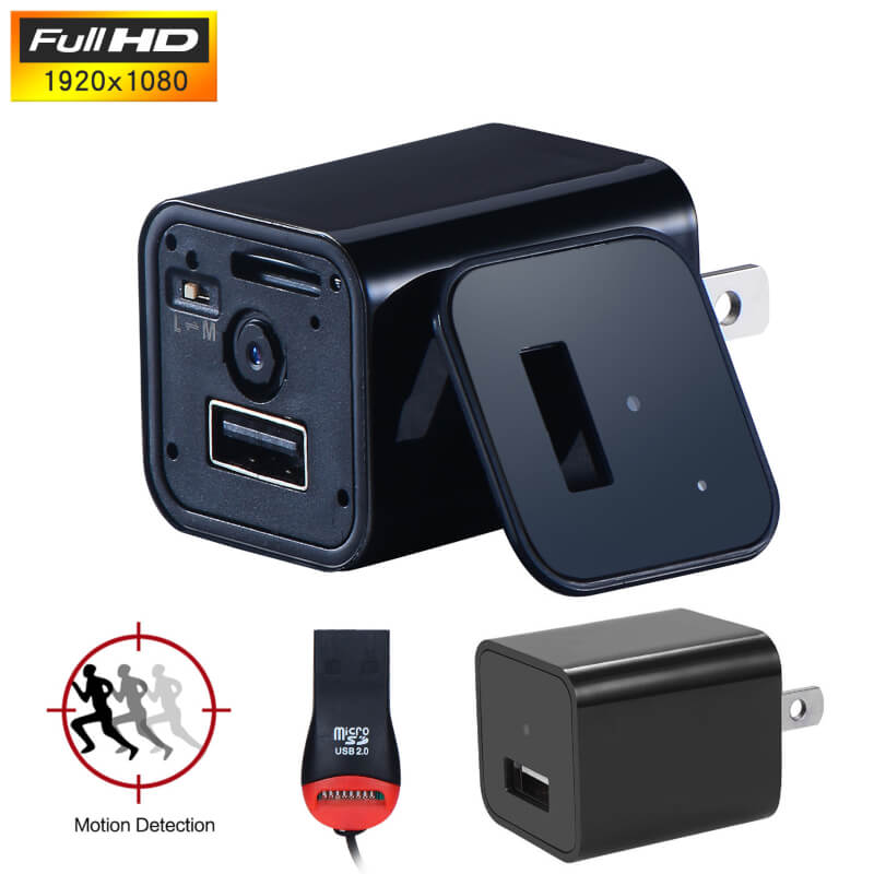 1080P HD Mini USB Wall Charger with Motion Detection
