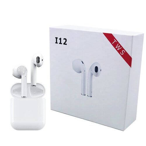 i12 Sport Stereo Earphone With Charging Dock
