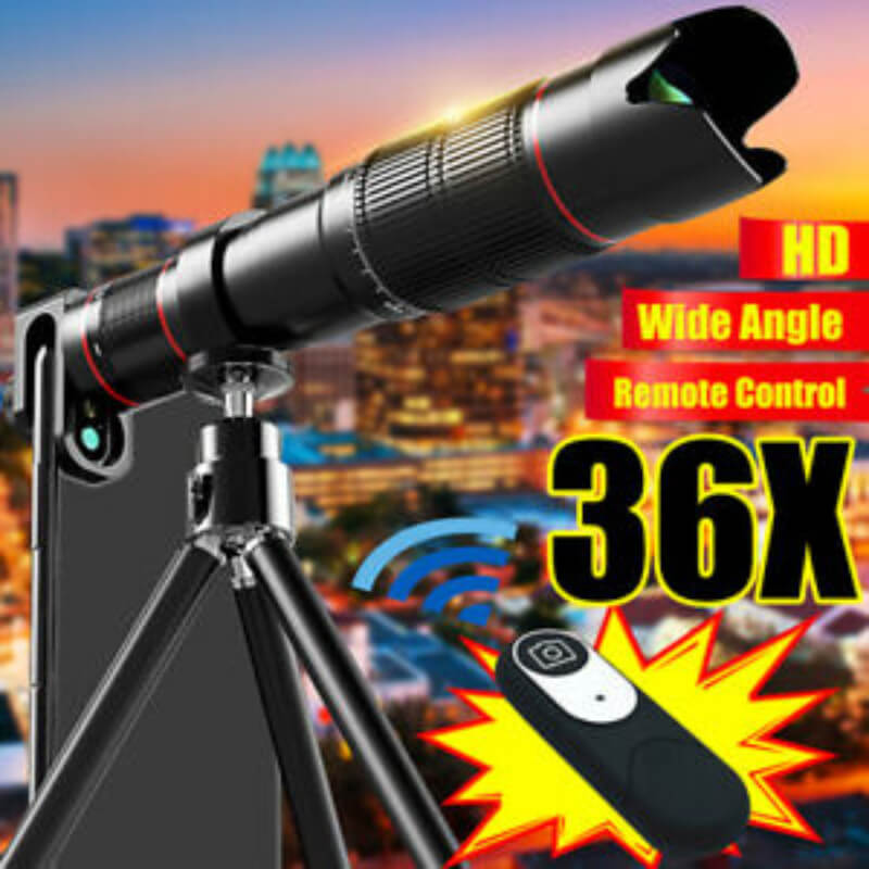 36X-4K-HD-Dual-Zoom-Remote-Control-Telephoto-Lens-Telescope-Lens