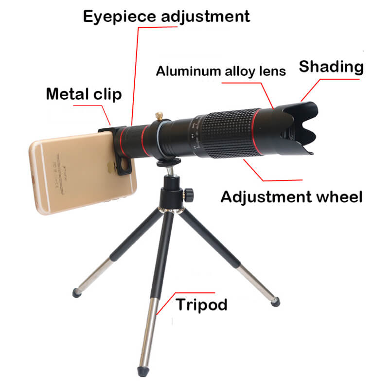 36X 4K HD Dual Zoom Remote Control Telephoto Telescope Lens