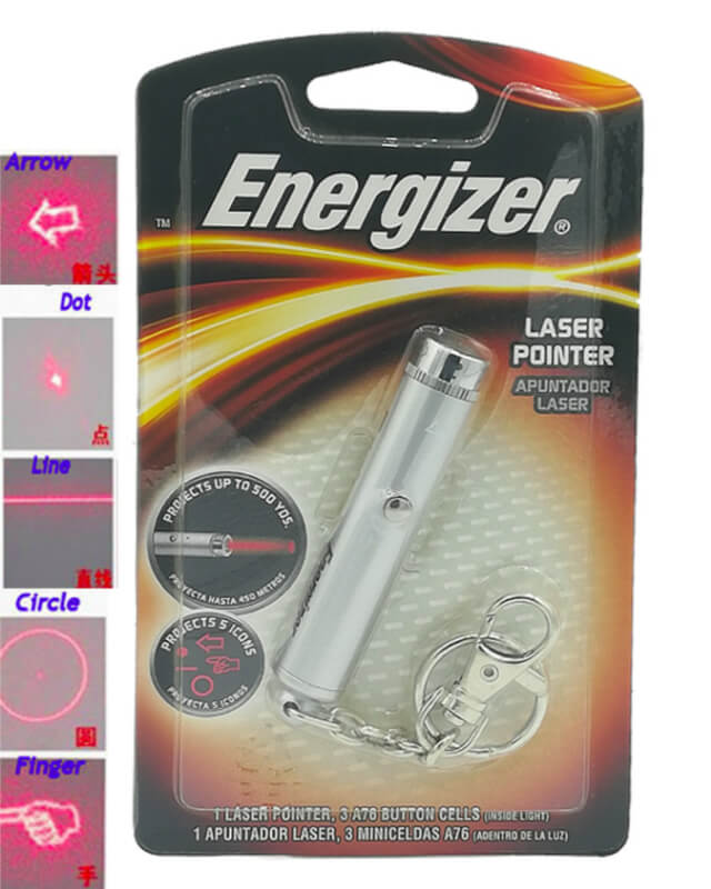 Energizerr Laser Pointer Have Five Different icons