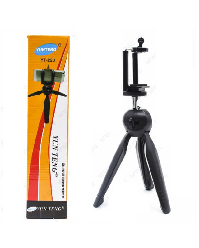 Yunteng-YT-228-Mini-Tripod-With-Mobile-Clip