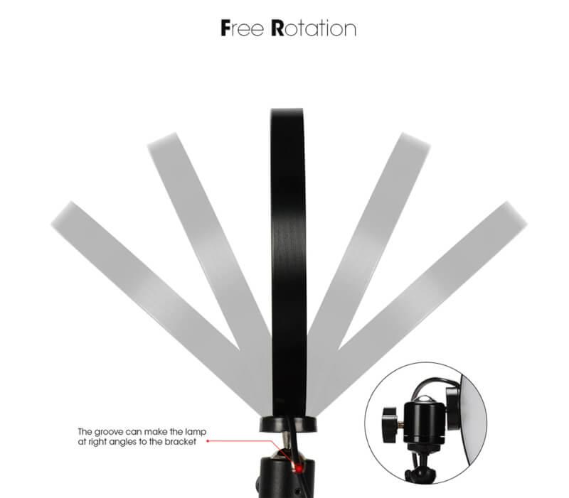 26cm Ring Light with 7 Feet Adjustable Tripod&Mobile Holder