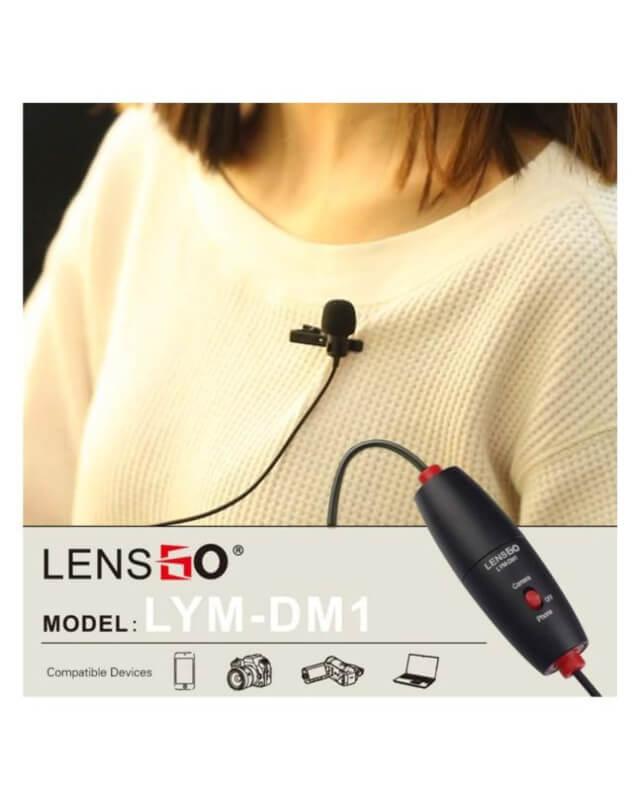 Lensgo Mic for Canon Nikon DSLR Camcorder & Phone - LYM DM1