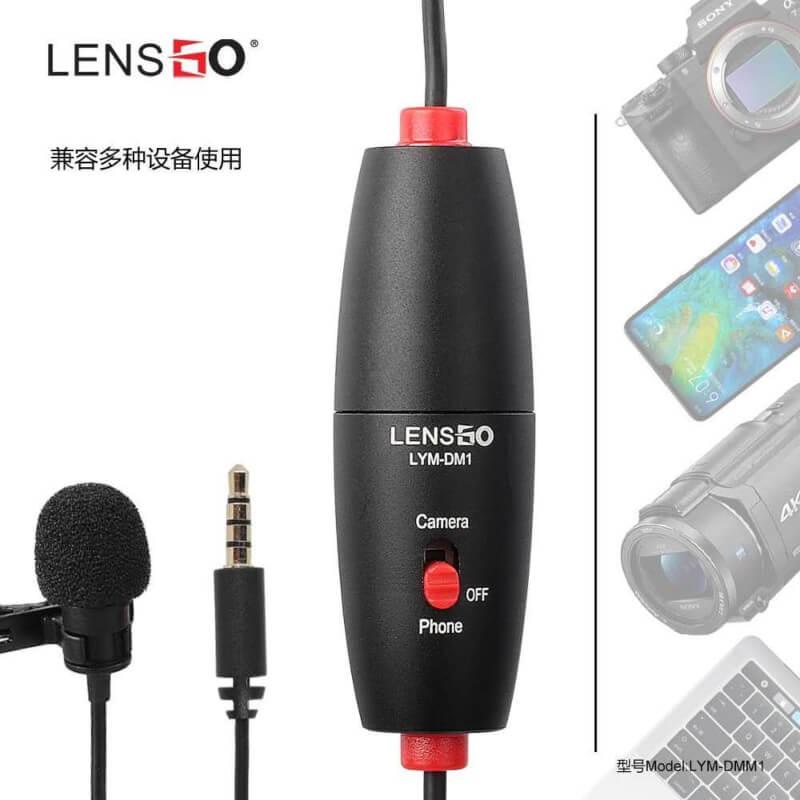 Lensgo-LYM-DM1-Mic-In-Metal-for-Canon-Nikon-DSLR-Camcorder