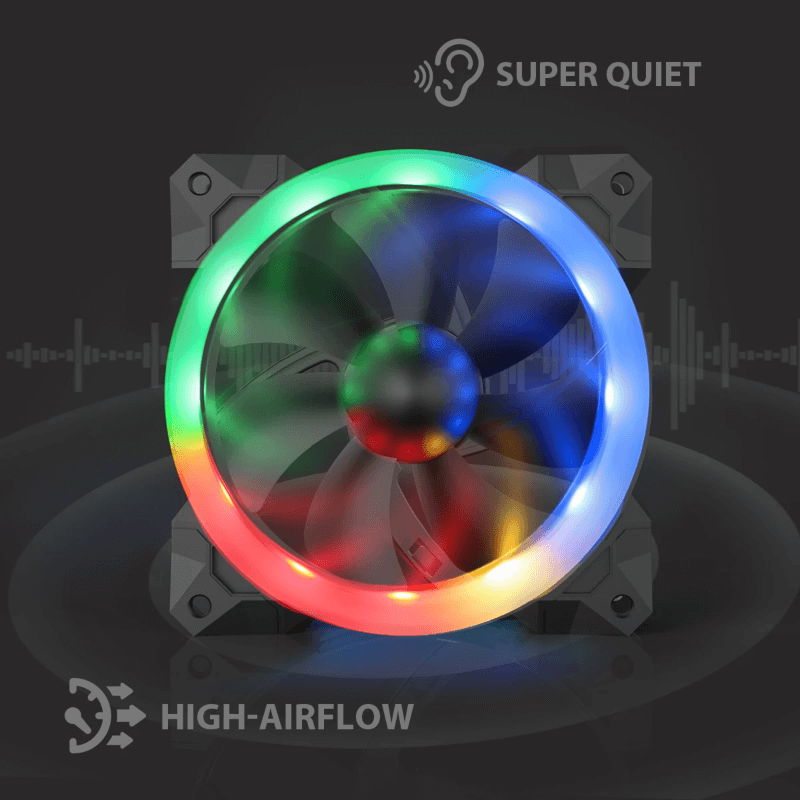 Redragon GC-F008 PC Adjustable Color LED Fan, CPU Cooler