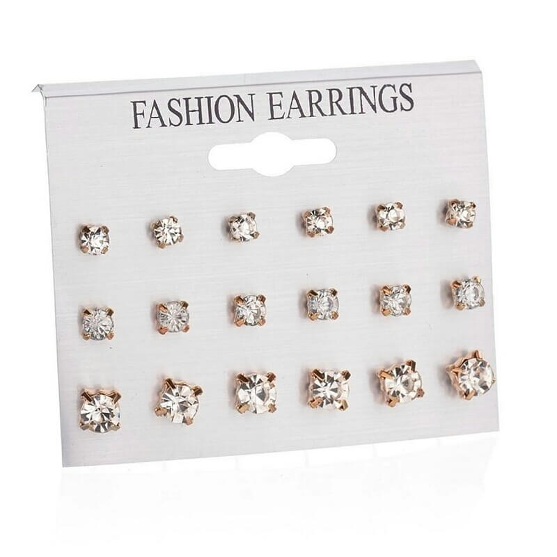Pack-of-9-Pairs-Mix-Design-Square-Rhinestone-Stud-Earrings-For-W