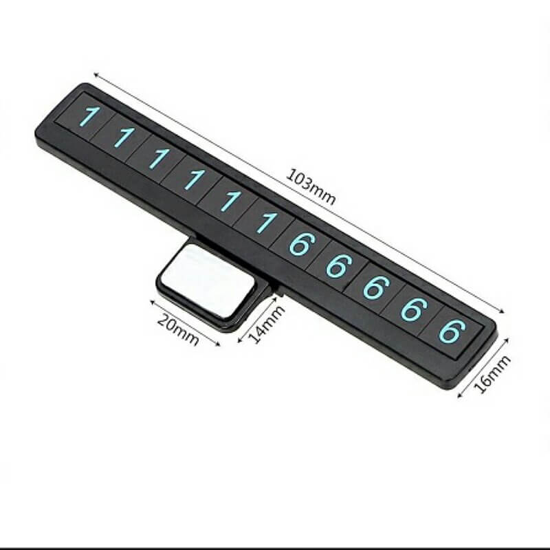 Car Luminous Temporary Parking Mobile Phone No Card Plate