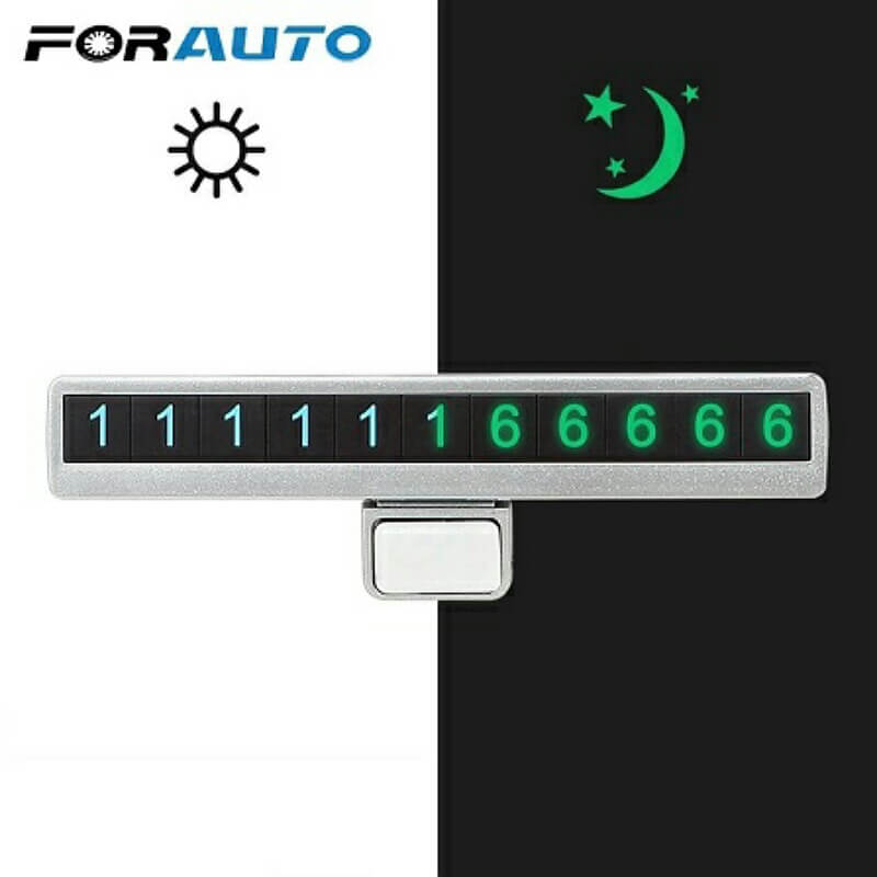 Car-Luminous-Temporary-Parking-Mobile-Phone-Number-Card-Plate