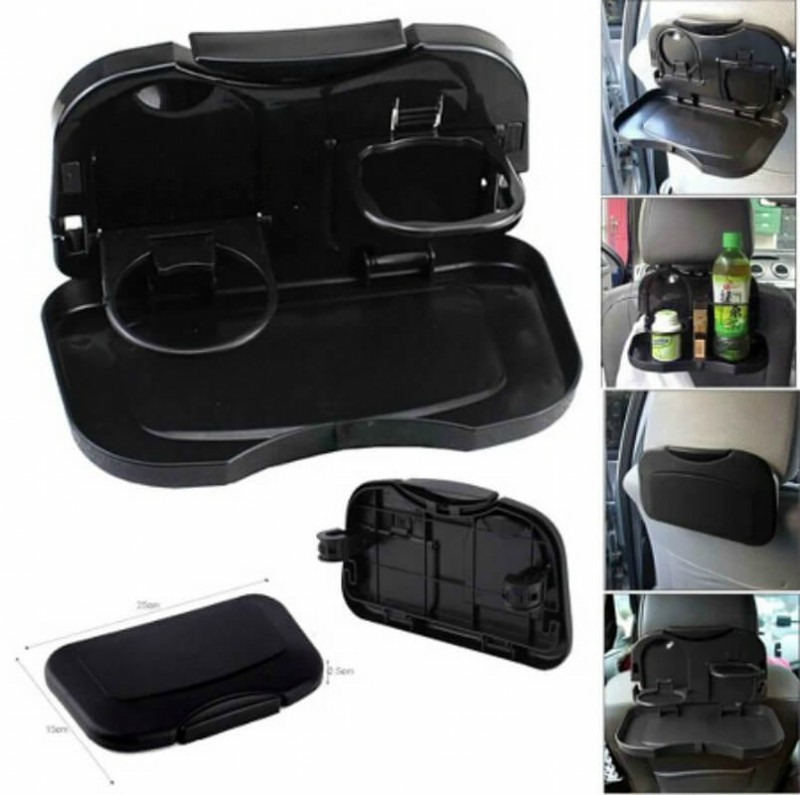 1pcs Folding Auto Car Back Seat Table Drink Food Cup Tray