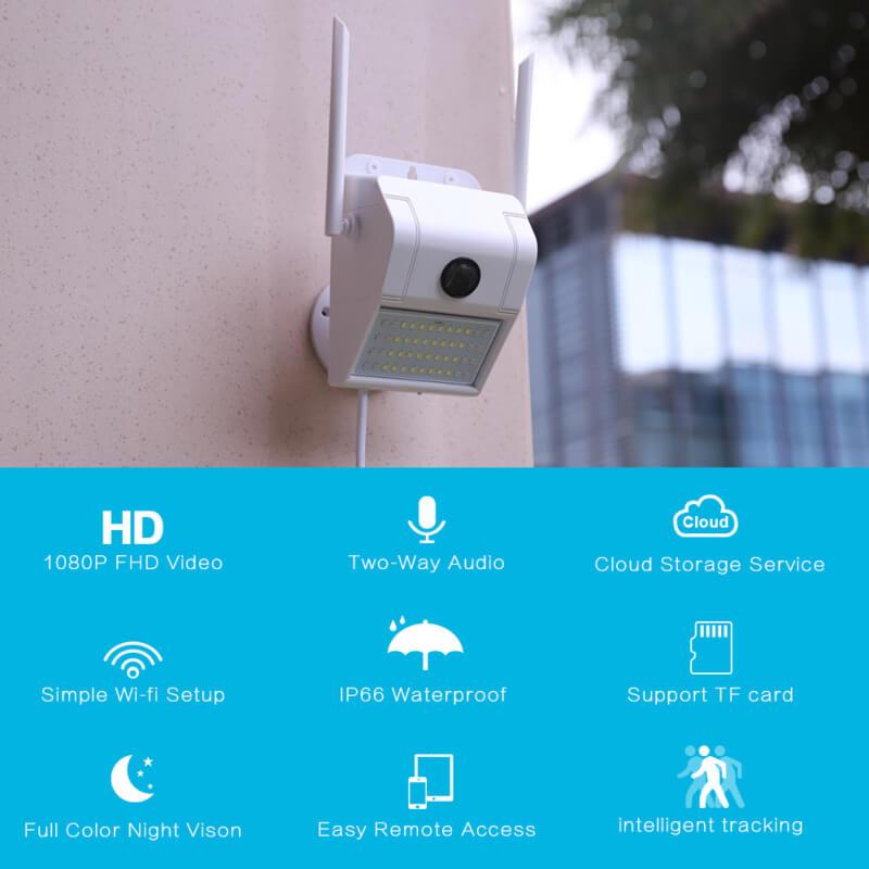 Wall Lamp 1080p HD Wifi Camera