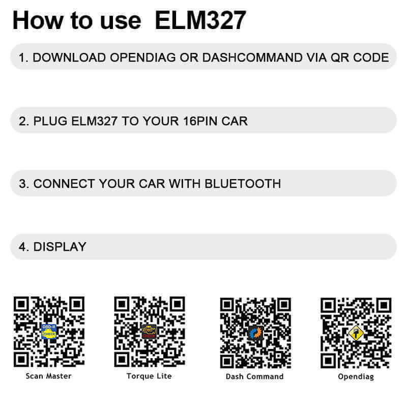Bluetooth Car Error Code Reader OBD 2 Scanner - Ancel iCar2
