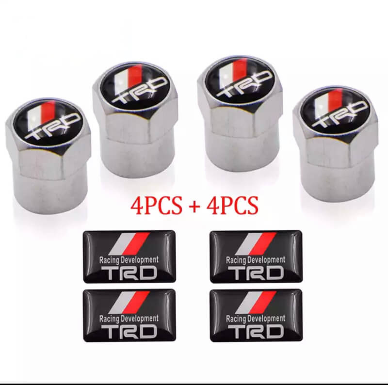 TRD-Racing-LOGO-Auto-Wheel-Tire-Parts-Sport-Valve-Stem-Caps-Cove