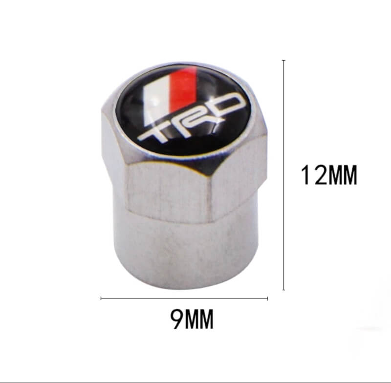 Valve Stem Cap Cover - TRD Racing LOGO- Auto Wheel Tire Part