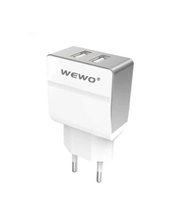 Wewo W004 Dual USB 2.4A Travel Charger - White