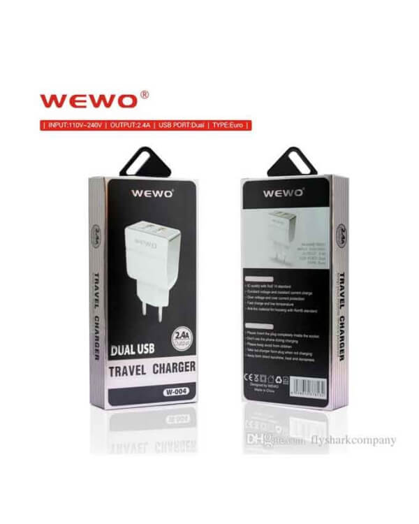 Wewo-W004-Dual-USB-2.4A-Travel-Charger